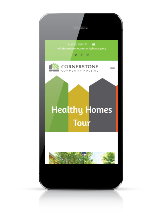 Cornerstone Community Housing - web design