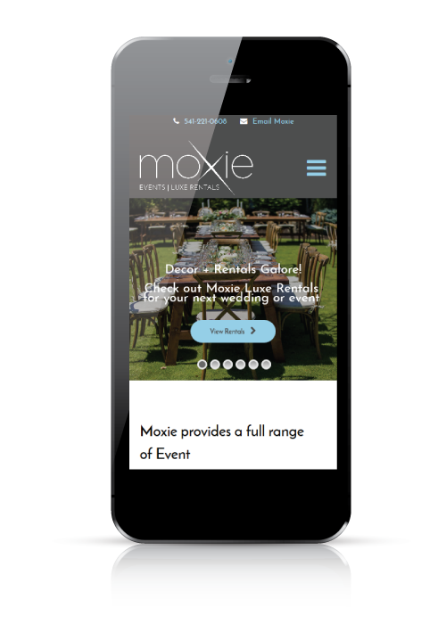 Moxie Events - web design