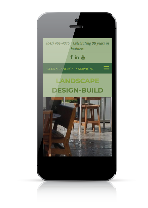 Glenn Landscape Services - web design