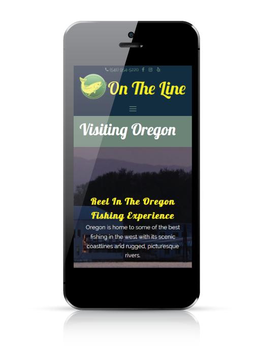 On The Line Guide Service - web design