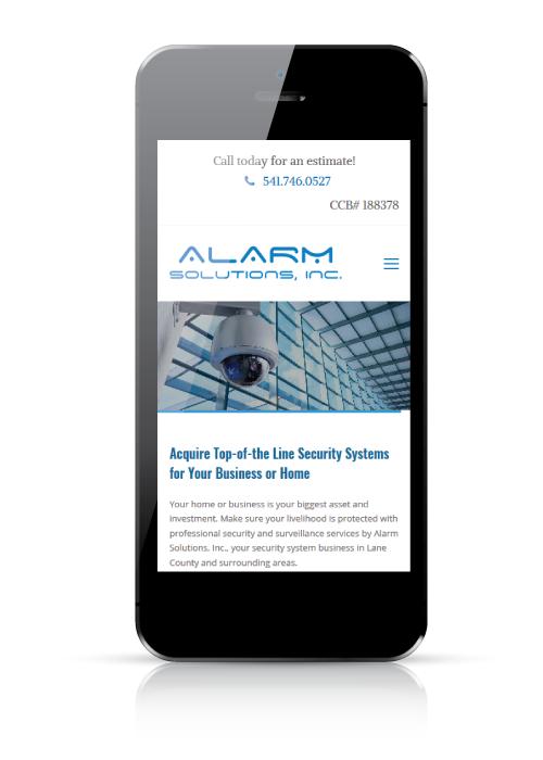 alarm solutions - web design