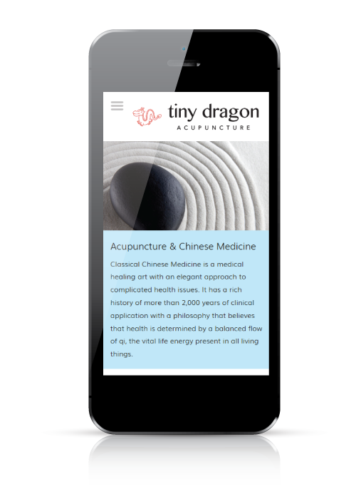 Tiny Dragon Acupuncture - web design