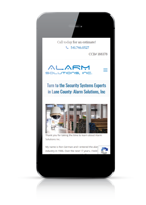 alarm solutions - web design