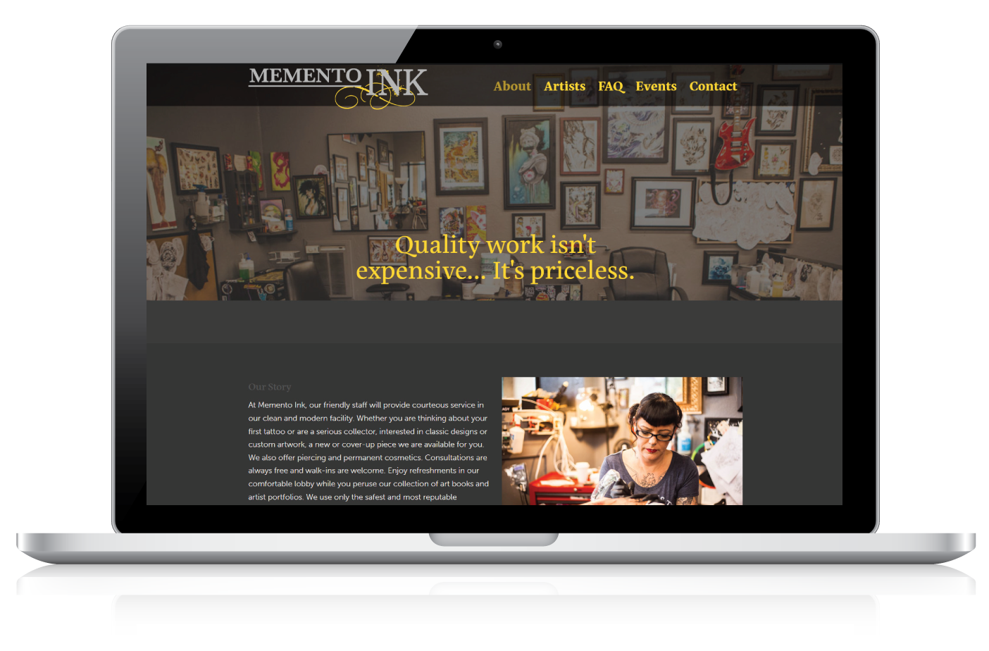 Memento Ink | Web Design