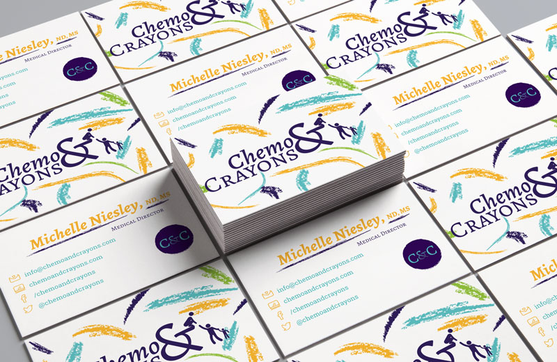 Chemo & Crayons - branding - business cards