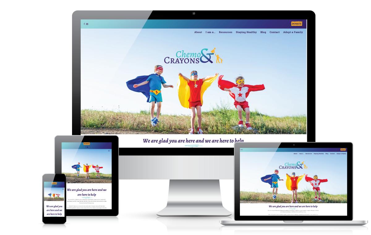 Chemo & Crayons - web design