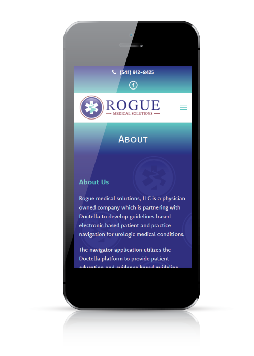 Rogue Medical Solutions - web design - mobile view