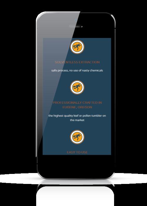 mobile web design mock up